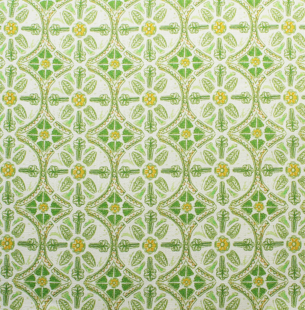 Petite Circle Batik: Green
