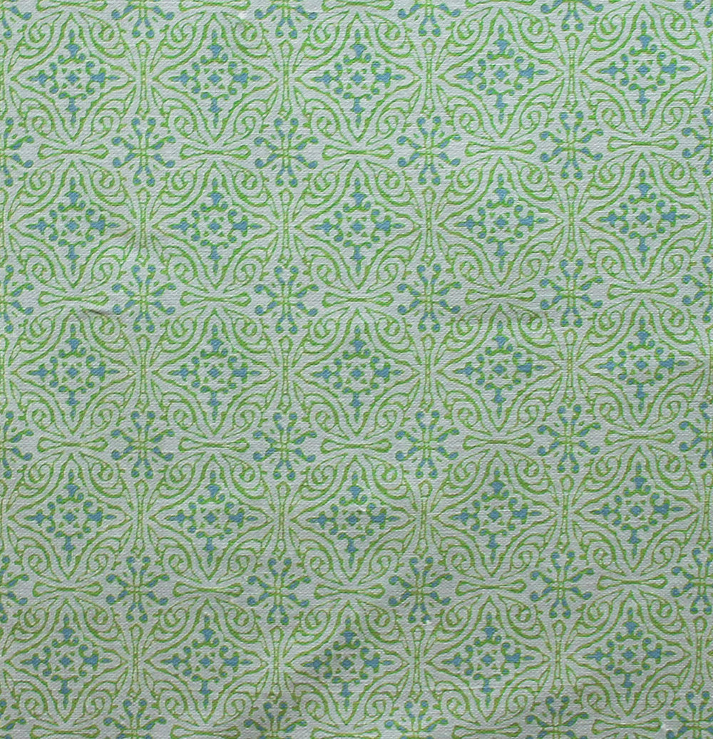 Small Diamond Batik: Green