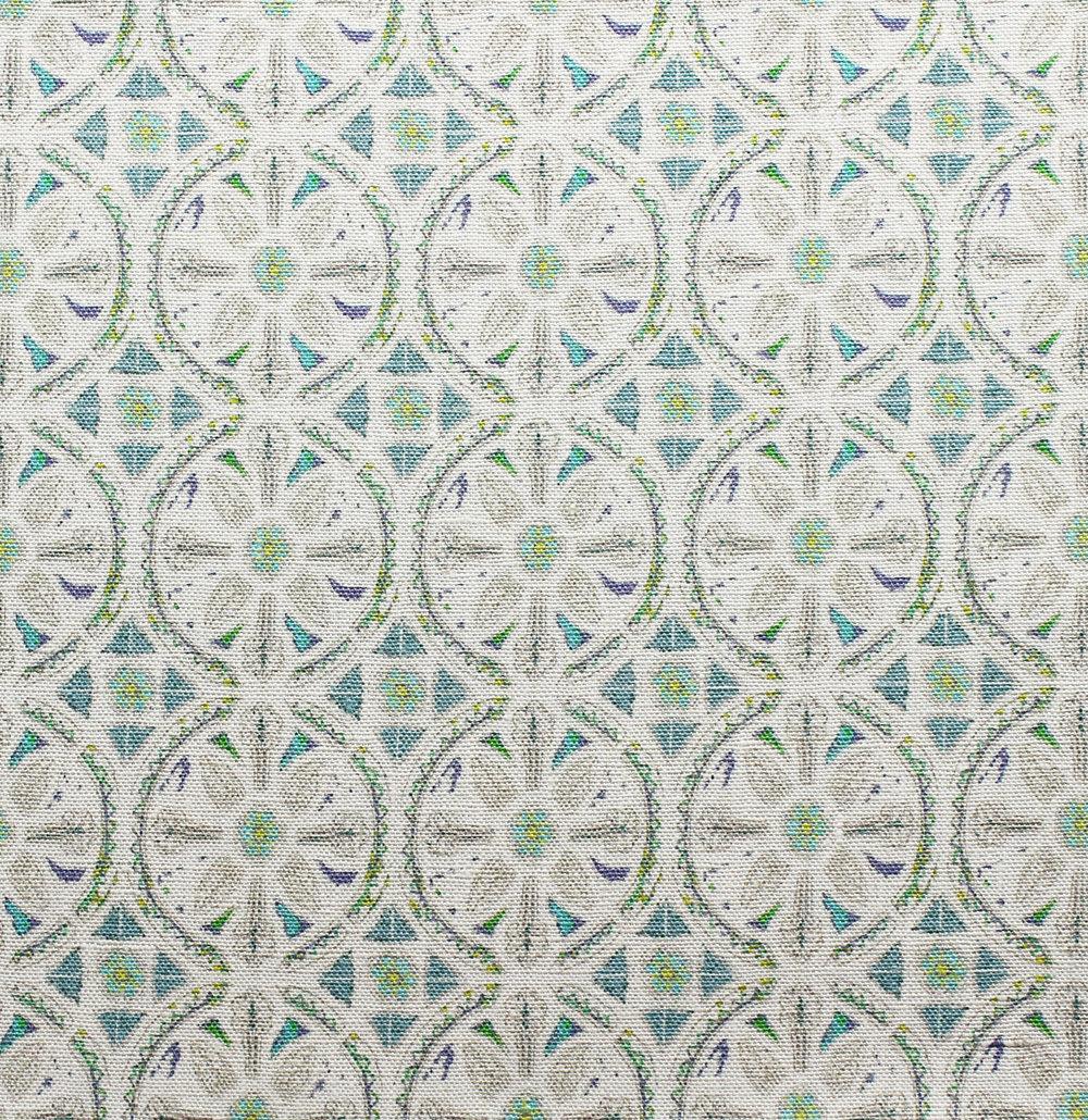 Petite Circle Batik: Turquoise