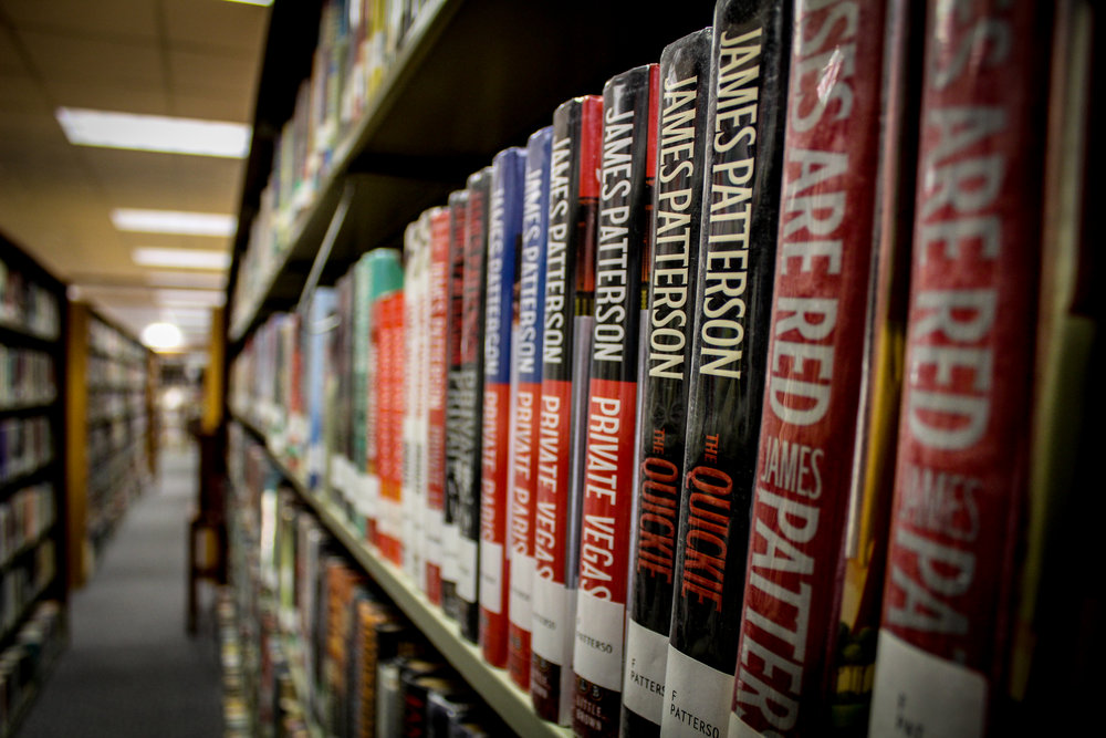 row of James Patterson books