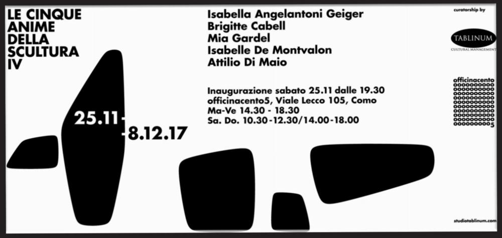 La Cinque Anime della Scultura , Côme  Italie , 2017