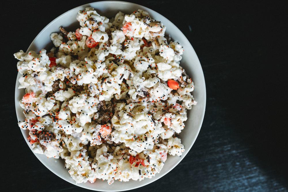 Halloween Popcorn Mix Snack