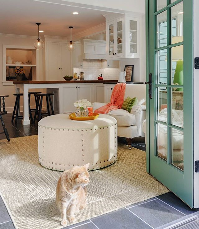 In this gorgeously renovated home, the kitchen becomes a sunroom every time the sun shines. Find your spot in the sun and relax. ★★★★★★ #christianafactorystudio #cfs #baskinginthesun #naturallight #craftsmanshipforlife #christianacabinetry #inspiration #design #kitcheninspiration #sunroom #homeliving #homeadore #custom #quality #meow