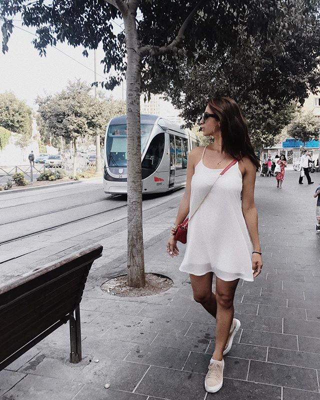 Exploring in my little white dress 👗 • #outnabout