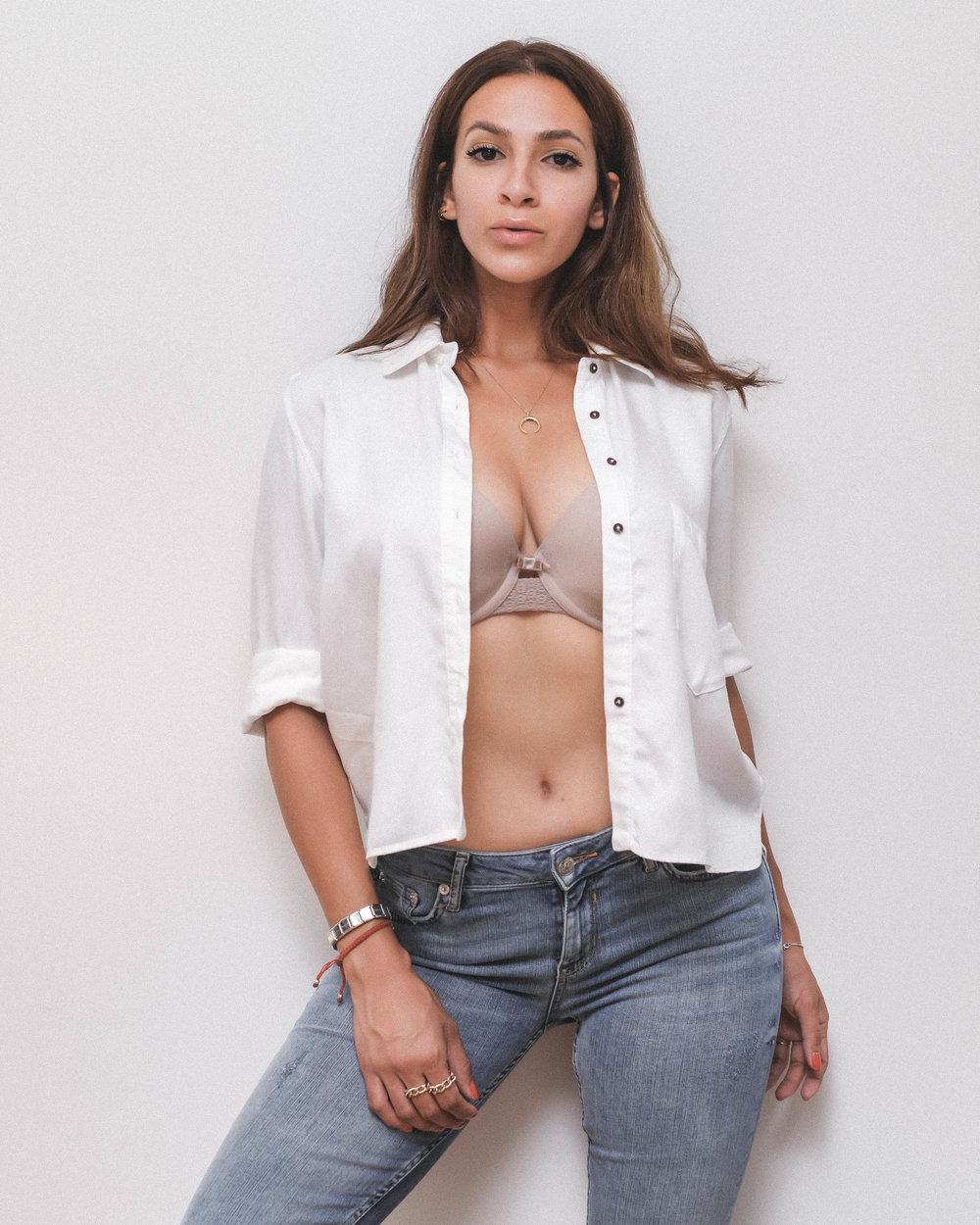 Blouse+Jeans: Zara | Bra: Triumph