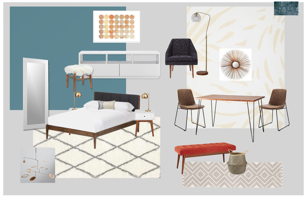 Mid-Century Modern Furnished Studio - San Diego, Ca