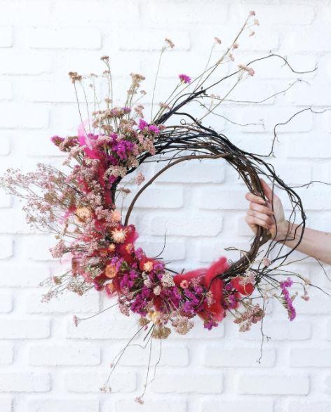 Native Poppy Floral Wreath