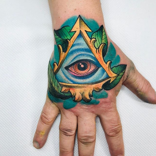 Look at those colours!! Hand banger by @nikcarville !! Email us info@carvilles.co.uk with your ideas and get booked in!  #allseeingeyetattoo #allseeingeye #illuminati #illuminatitattoo #colour #colourtattoos #hand #handtattoo #handbanger #inksociety #ink #inked #tattoosociety #tattoosofinsta #tattoosofinstagram #inklove #inkoftheday