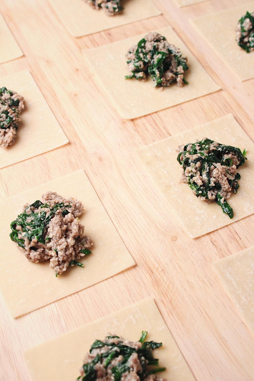 Spinach Mushroom Ravioli Wrappers