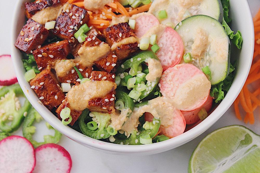Banh Mi Salad Closeup