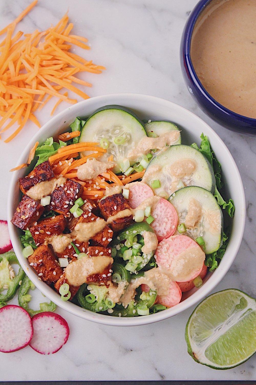 Banh Mi Salad Overhead