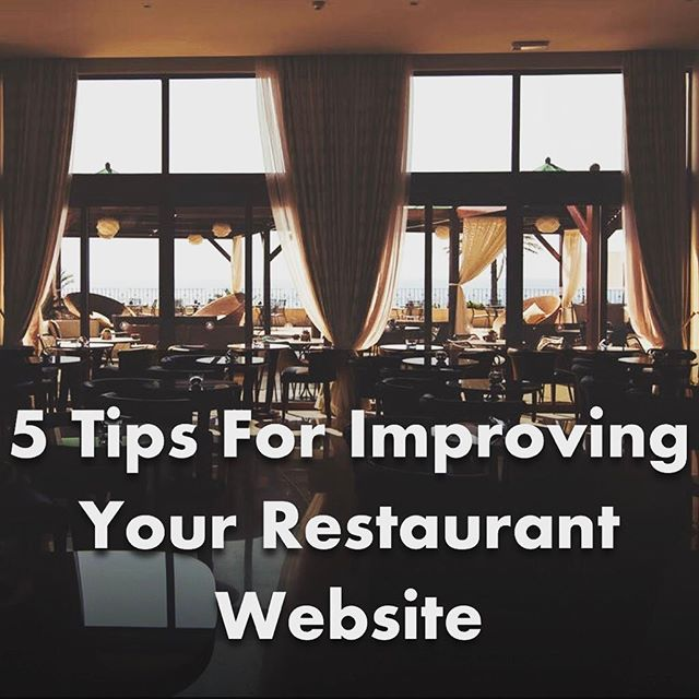Check out our latest blog post about improving your restaurant's website. Link in bio.