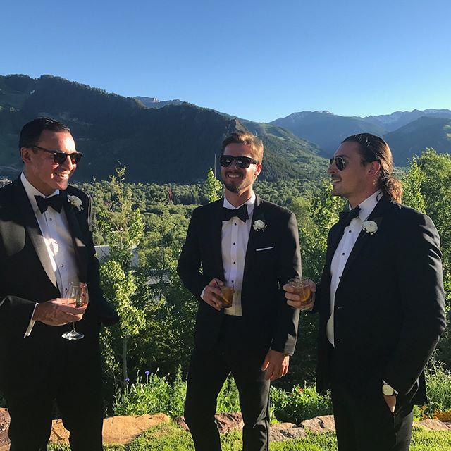 unreal weekend celebrating @soharkness and @clayto18 while we faked the whole GQ thing. #aspen #welandedonthemoon #wareagle