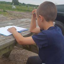 Jacob writing