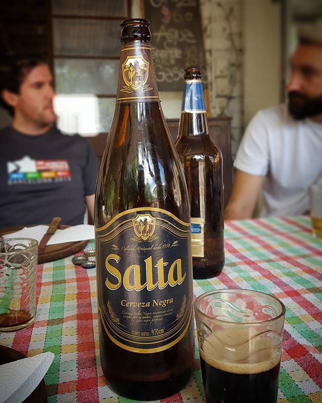 Had the chance to drink some Salta beer in Salta, Argentina this week. You may remember hearing about how Salta once paid to replace a rugby player's tooth with a beer bottle opening tooth implant. Needless to say, no teeth were harmed in the consumption of the pictured brew. #HopsAndStops #TravelingBeers