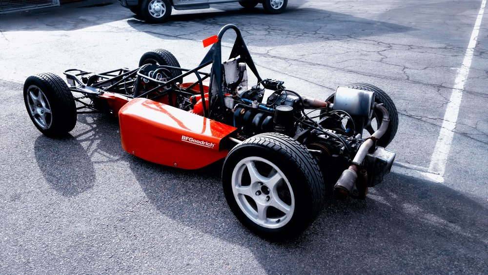 Formula Skip Barber car without bodywork