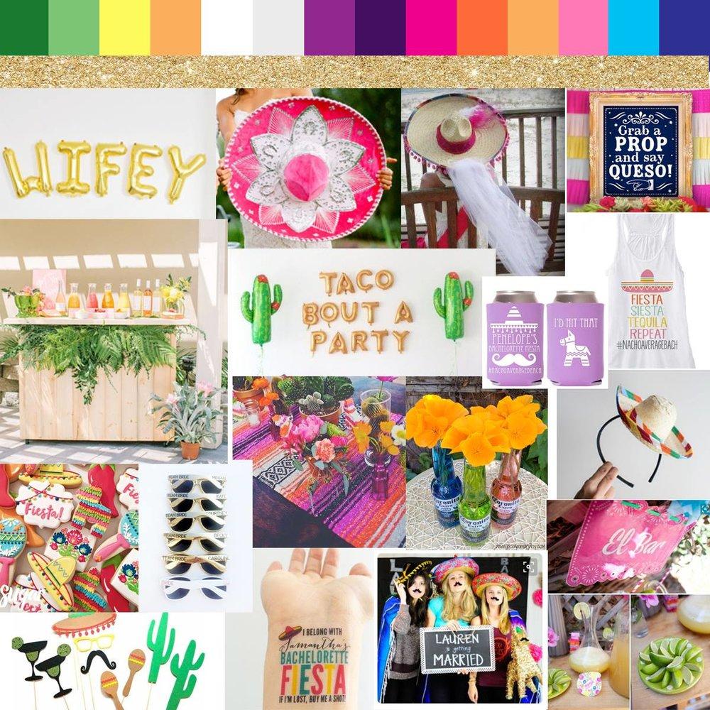 Mexican Fiesta Bachelorette Inspiration