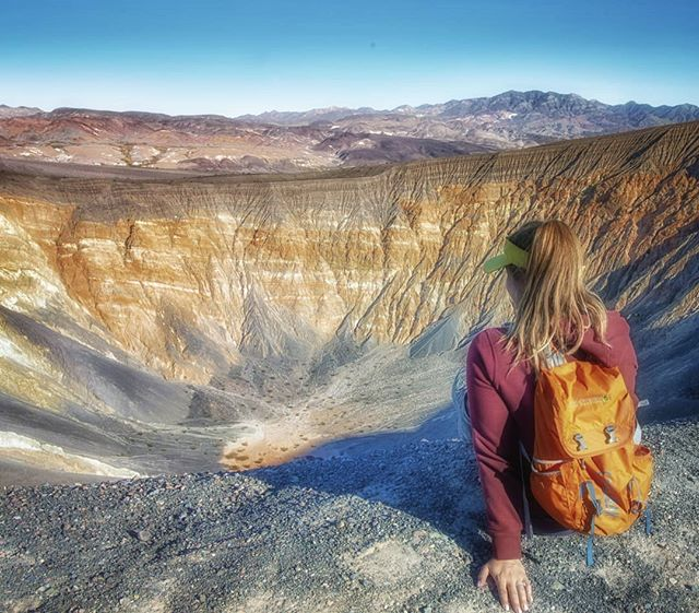 Made it to the top of the Ubehebe Crater. This thing is massive and 600 feet deep. The hike around gives you amazing views if you are into that sorta thing. Well worth the effort and the sore butt!  #keepitwild #simplyadventure #wildernessculture #lifeofadventure #liveoutdoors #beautifuldestinations #roamtheplanet #discoverearth #wherewillwegonext #makemoments #exploremore #stayandwander  #goexplore #destinationearth #familytravel #exploringtheworld #welltravelled #lovelifeoutside