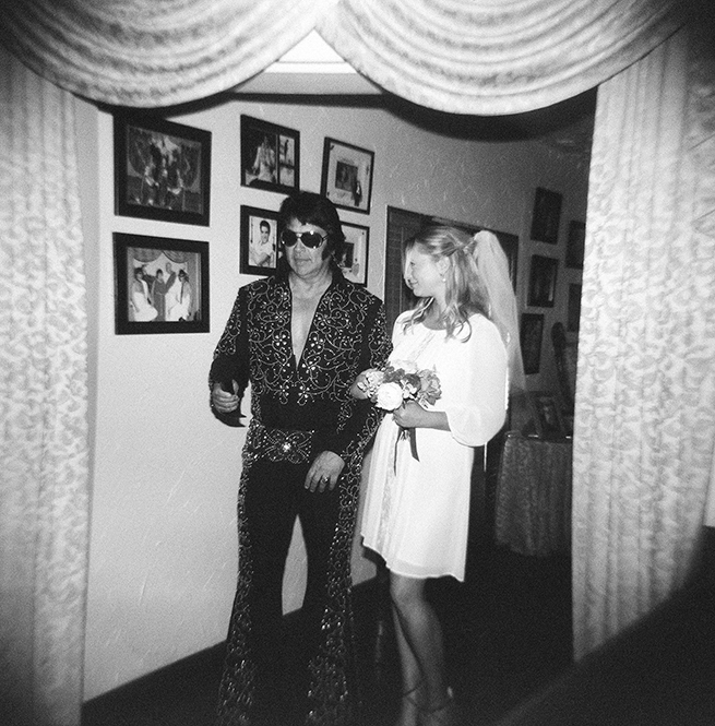 I'll never forget how starstruck and mesmorized Laura was to meet Elvis! Of course he walked her down the aisle!