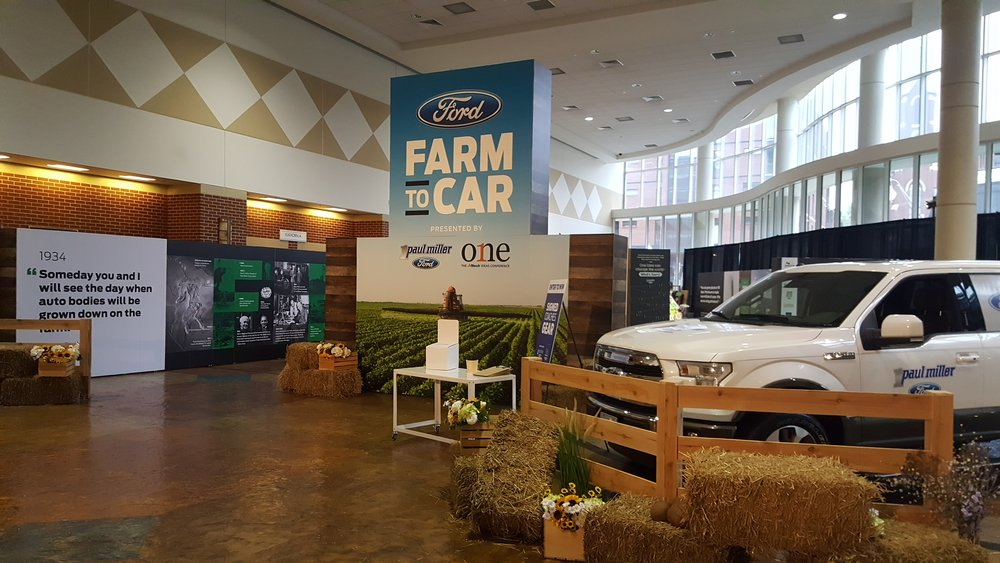 Ford Farm to Car Exhibit, Lexington, KY.  Zipie & Paul Miller Ford
