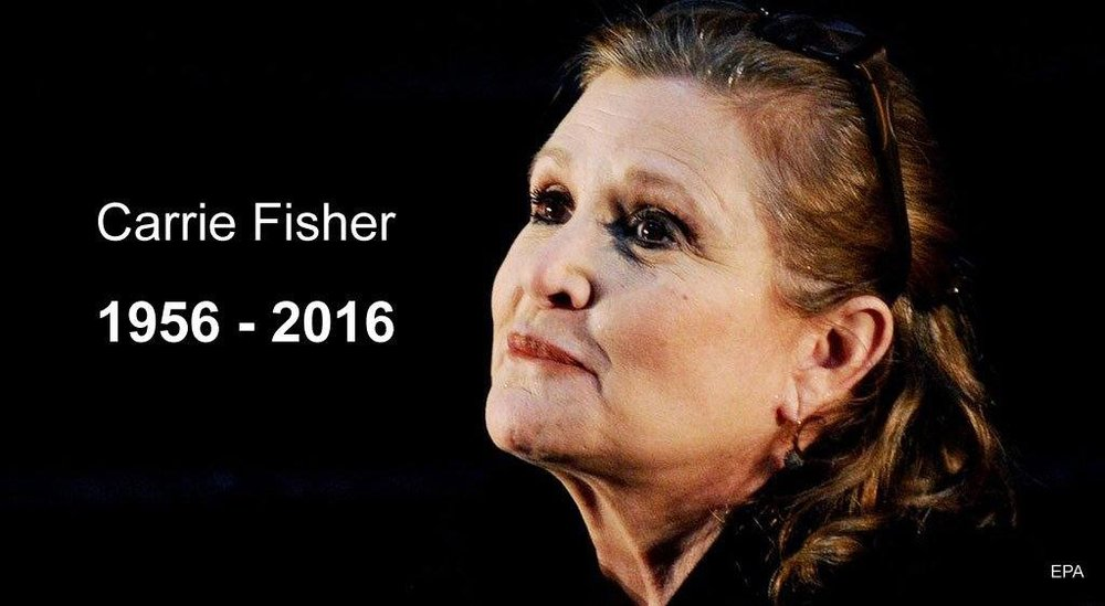 Thank You from fans across the galaxy. R.I.P. Carrie Fisher