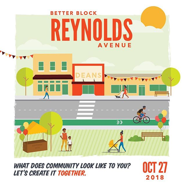 Had so much fun attending today's Better Block Reynolds Avenue community block party!🎈🎉🚩🚧🚦🚲 _____________________  The streetscape was totally transformed and revitalized with painted crosswalks, pallet benches, safe biking lanes, pop-up shops, and an imagined park where kids could safely play while neighbors listened to music and watched live performances.  #insipiring #betterblock #placemaking _____________________ @lowcountrylocal @metanoiacdc @urbanlandinstitute chs @cdccharleston