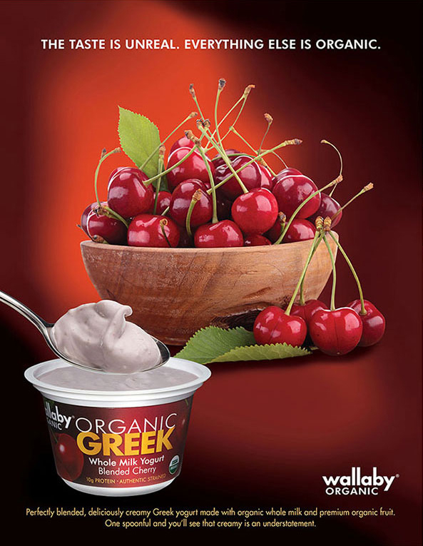 Creative advertisement for Wallaby yogurt