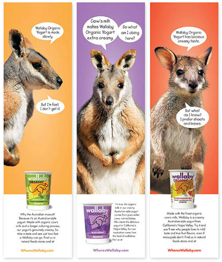 Wallaby yogurt creative advertisement banners