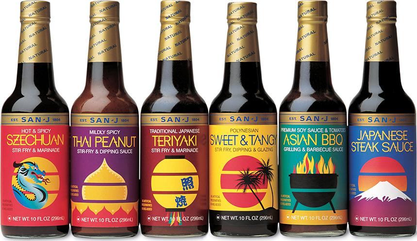 San-J tamari package branding