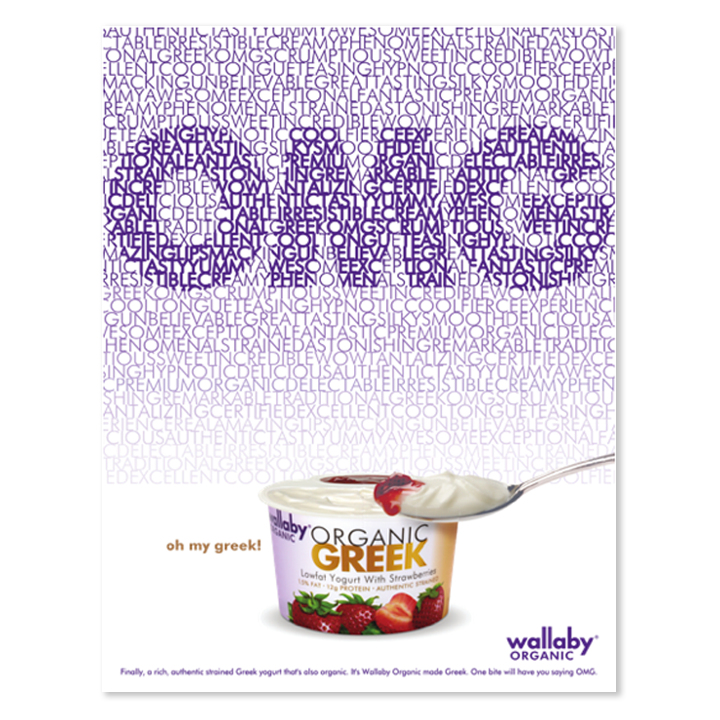 Wallaby yogurt OMG print advertisement