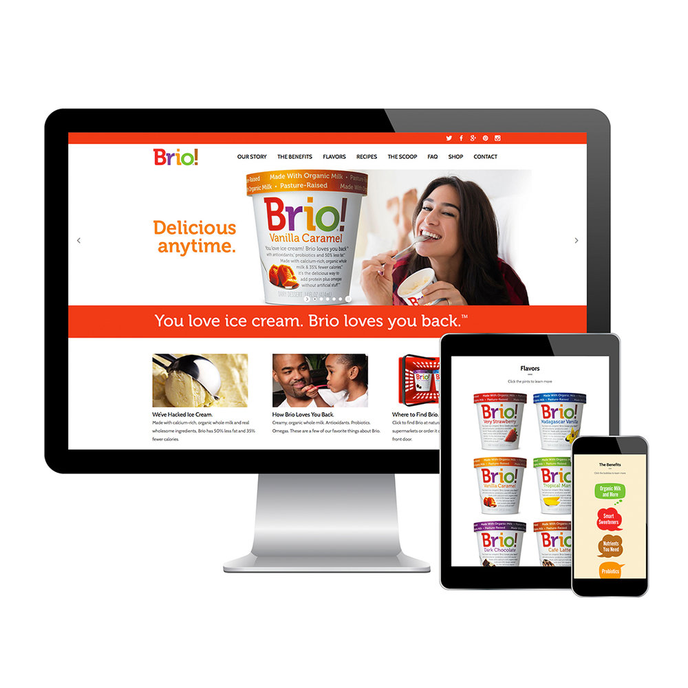 Web design agency for Brio