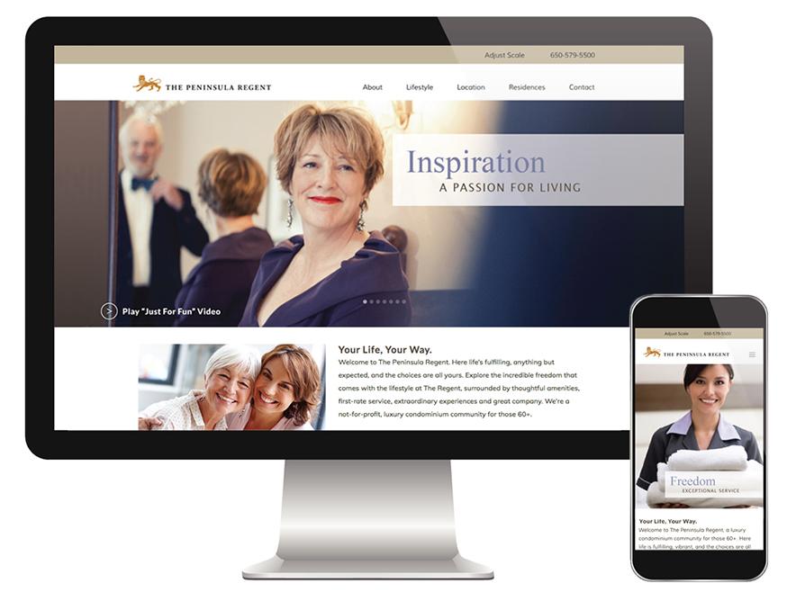 Digital marketing interactive website Peninsula Regent