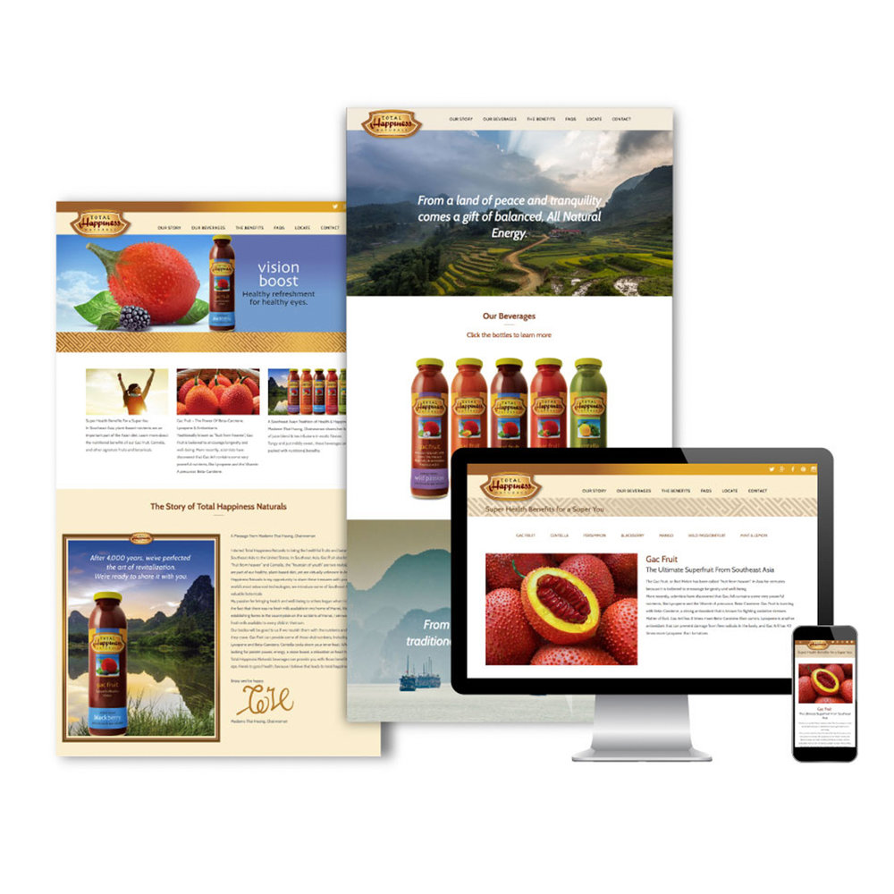TH Herbals interactive website