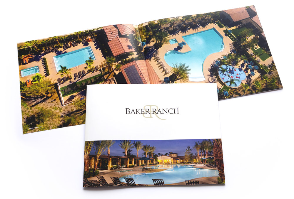 Marketing and advertising brochure collateral Baker Ranch