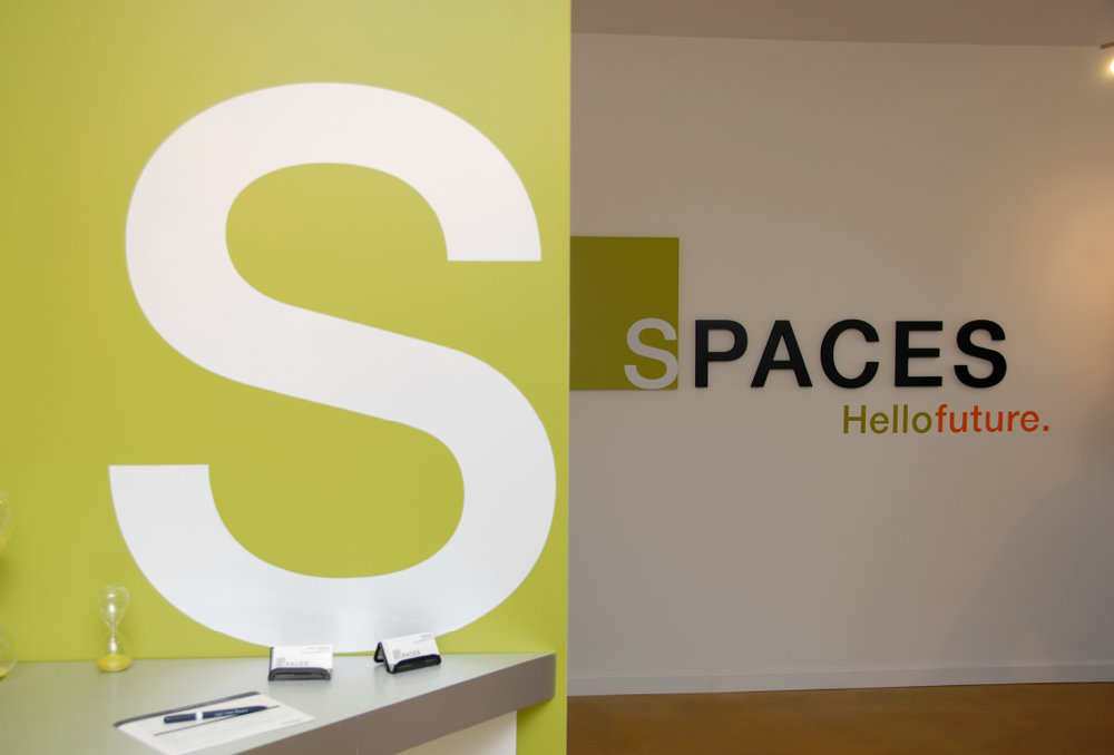 Marketing environmental design and graphics for Spaces