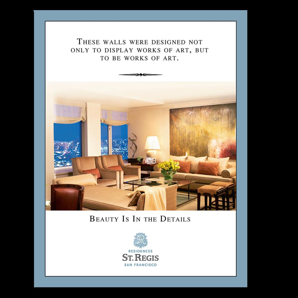 St. Regis residence print advertisement
