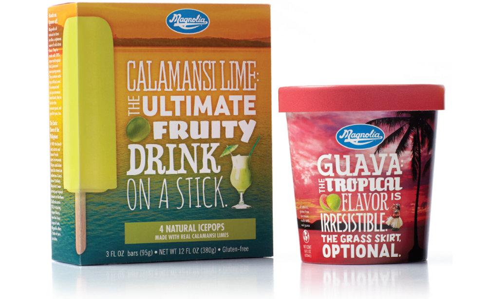 Award winning package design Magnolia Ice Cream