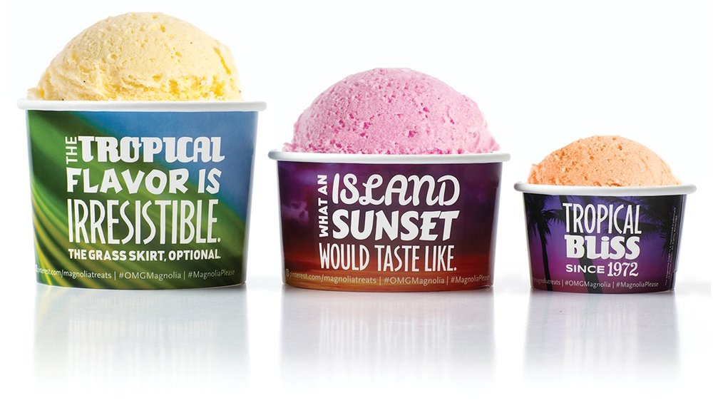 Creative package design Magnolia Ice Cream