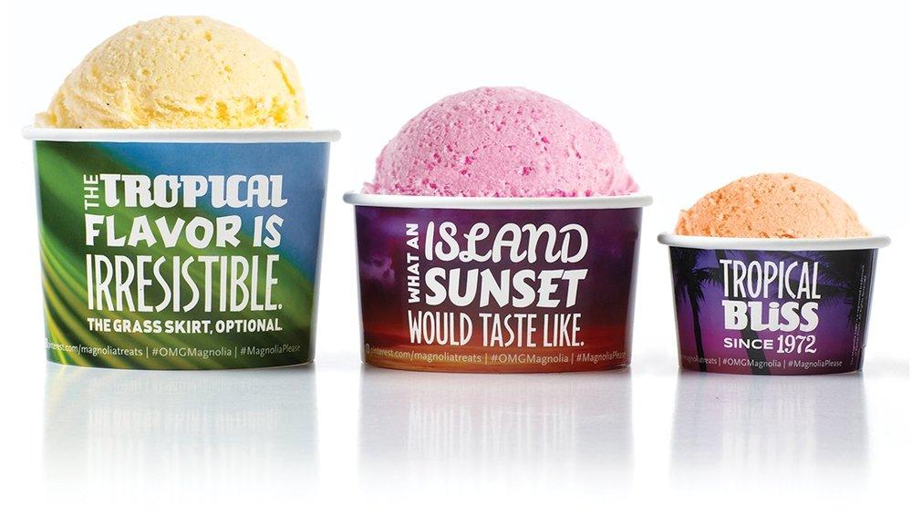 Creative package design Magnolia Ice Cream