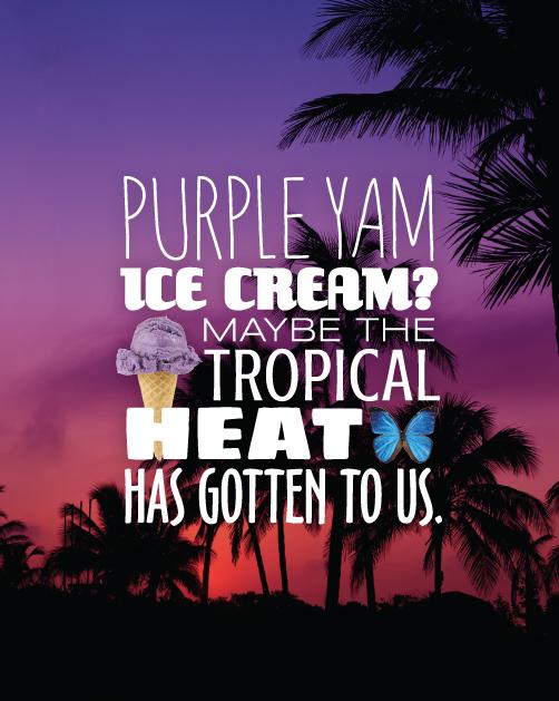 Magnolia Ice Cream purple yam graphics