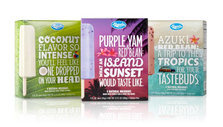 Marketing agency packaging design Magnolia ice cream bar