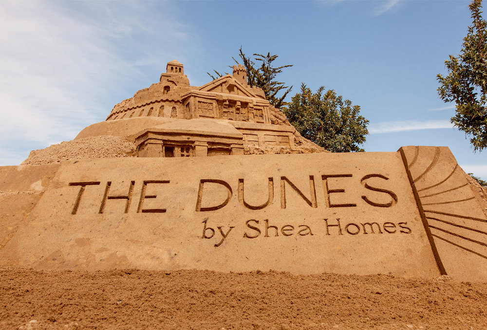 Giant outdoor sandcastle for The Dunes