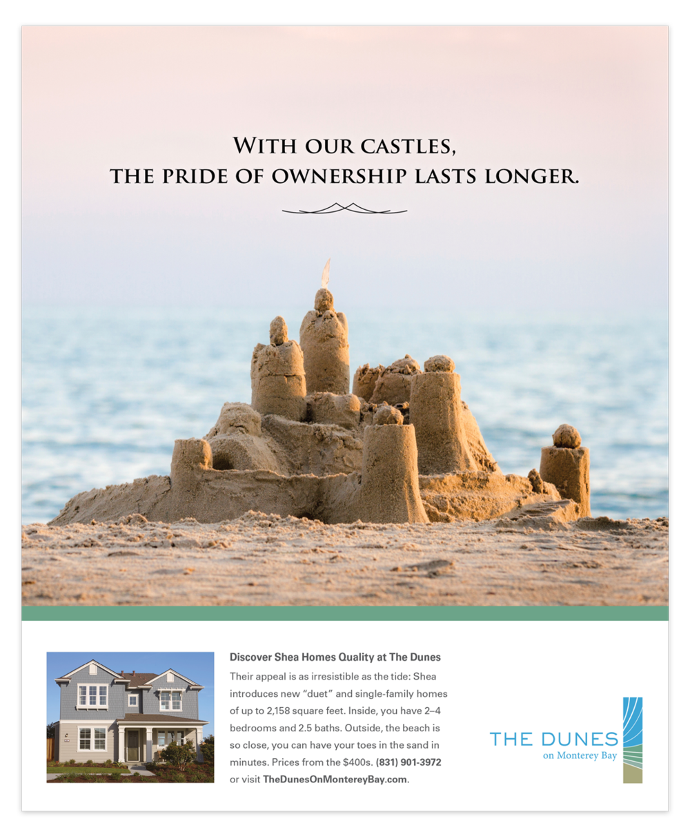 Print advertisement The Dunes homes by Shea Homes