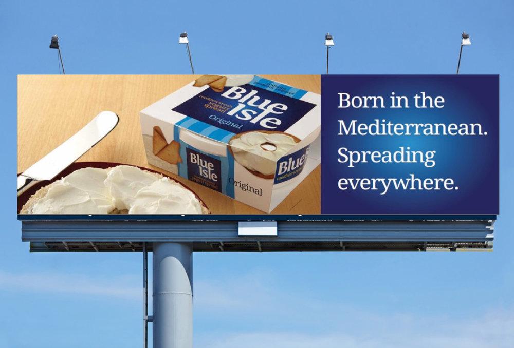 Blue Isle spread billboard advertisement