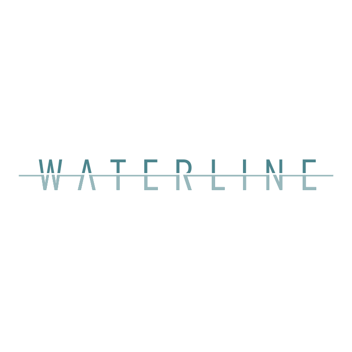 Waterline real estate innovative logo