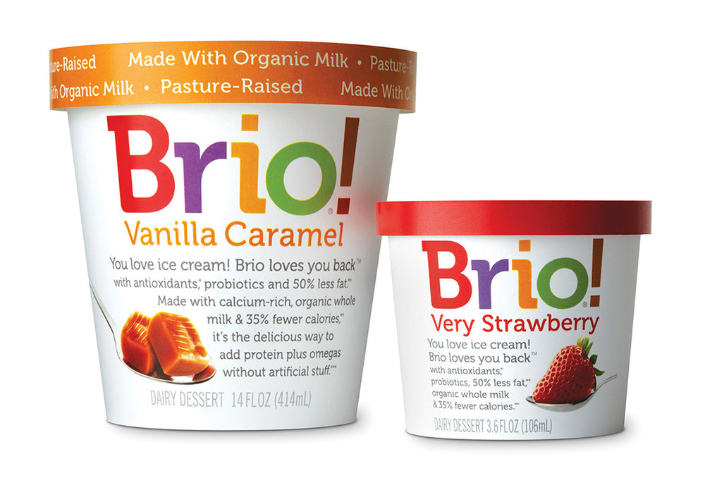 award winning logo design and packaging Brio