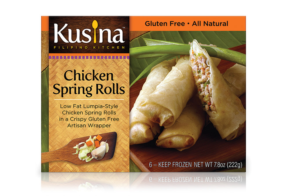 Kusina spring roll packaging desgn