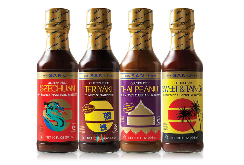 San-J sauce branding