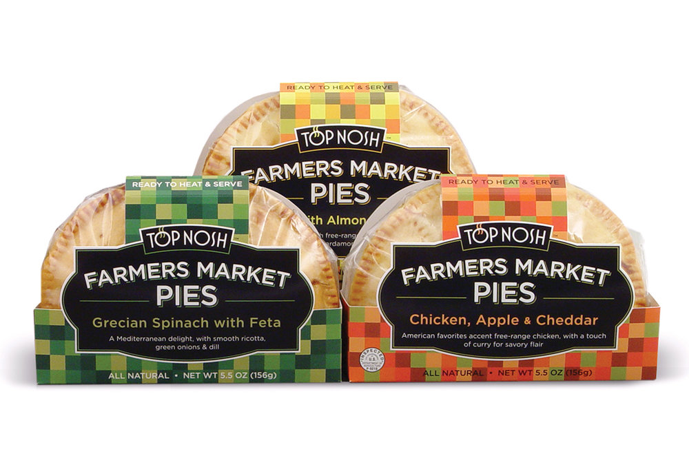 Farmers market pies top marketing design