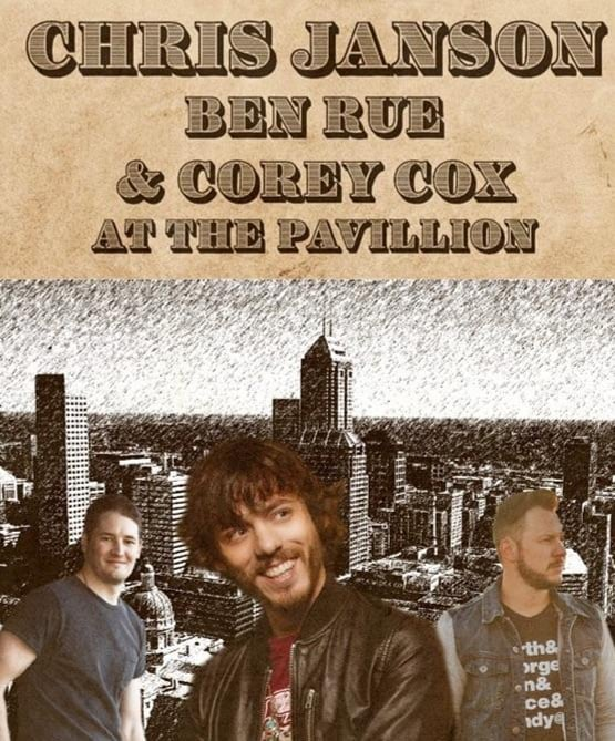 Gonna get wild in Indy tonight with @thechrisjanson and @coreycoxmusic!! If you want to come, TAG a friend and I'll pick 2 winners! Hurry #buckoffdiabetes #thepavillion